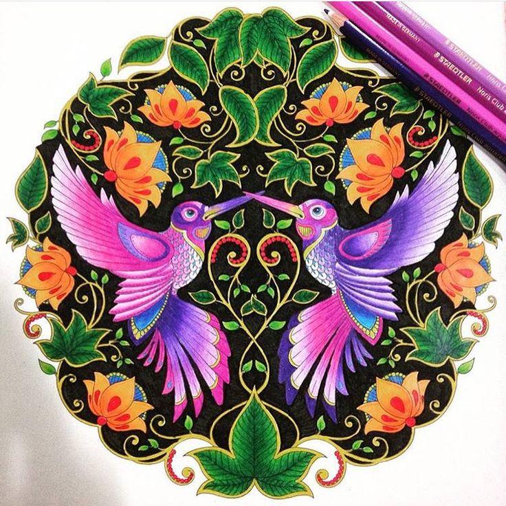 Secret Garden Print PatternsSecret GardensPattern DesignColoring BooksColouringJohanna BasfordChakra HealingHummingbirdsDrawings