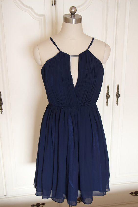 short navy blue bridesmaid dress, #bridesmaiddresses, #weddings, #navybluebridesmaiddress
