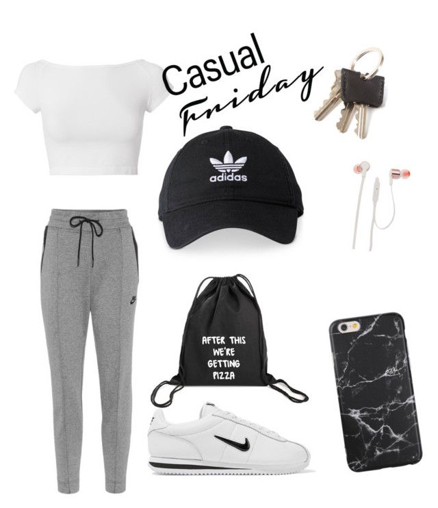 """""""this is the ,,THE PIZZA GUY ARRIVED"""" kimd of outfit 🤷🤔🙄"""" by cristixx ❤ liked on Polyvore featuring Helmut Lang, NIKE, adidas and JBL"""