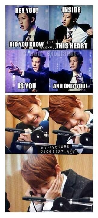 Sehun Exo >> Wow Chanyeol you know how to get Baekhyun into your heart