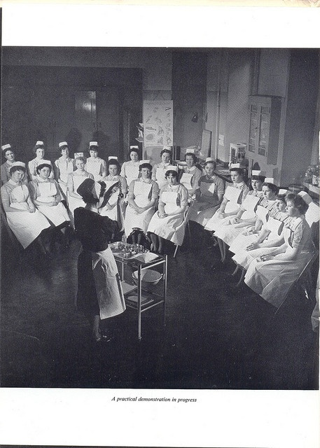 nursing courses....oh how the times have changed...