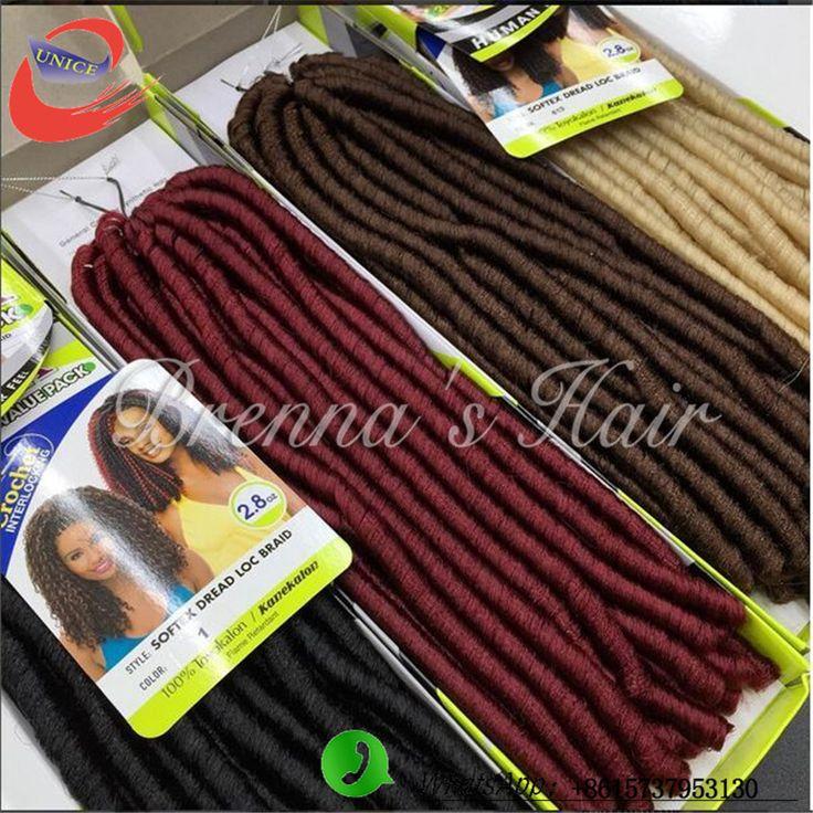 2016 Nouveau Style Crainte Tresses Serrures 18 pouce Synthétique Tressage Cheveux synthétiques faux locs tresse cheveux kanekalon dreadlocks cheveux(China (Mainland))