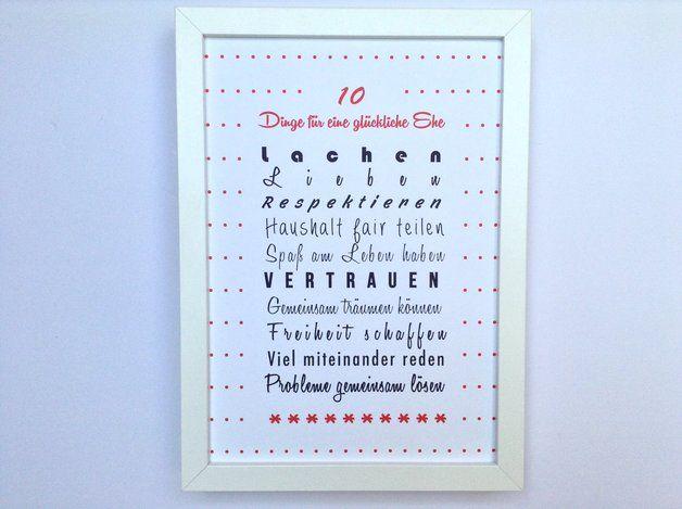 10 Dinge für eine glückliche Ehe :-)