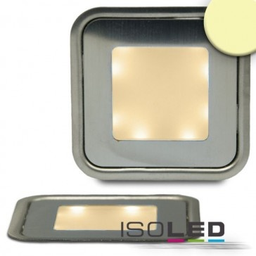 LED Bodenstrahler SLIM, quadr., IP54, edelstahl, warmweiss / LED24-LED Shop