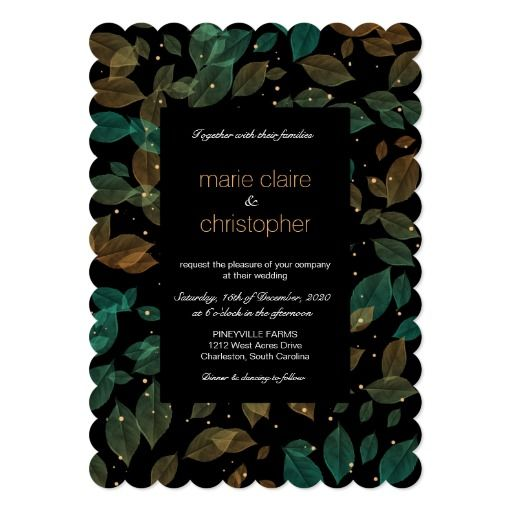 Aqua & copper leaves fall wedding romantic dark suite - includes wedding invitation, RSVP card, Thank You card. 3 color options available: green & aqua, green & purple, aqua & copper. If you need more coordinating items from this suite, please don't hesitate to contact me and I'll be more then happy to help. http://www.zazzle.com/collections/copper_aqua_pastel_leaves_fall_wedding_romantic-119009888826813022?rf=238359956961623048&CMPN=shareicon&lang=en&social=true