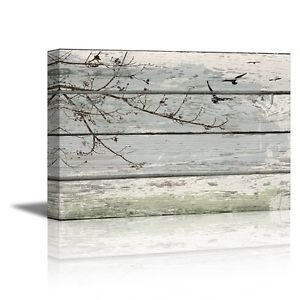 Abstract-Wall-Art-Tree-Branches-with-birds-on-Vintage-Wood-Background-16-034-x-24-034
