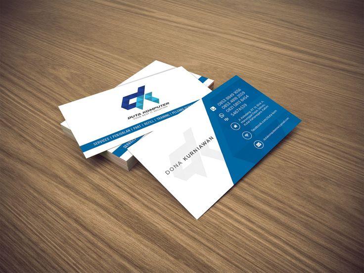 Business card design duta komputer