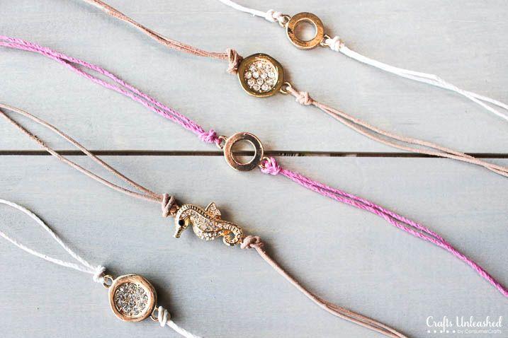 Sliding Knot Bracelet DIY - Crafts Unleashed