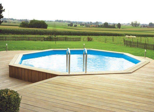 piscine-hors-sol-bois-ronde-terrasse-bois piscine hors sol bois