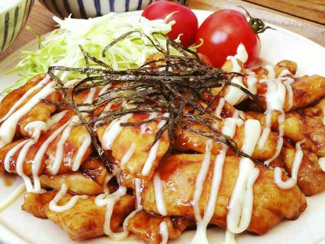 簡単過ぎる♡♥鶏胸肉の照り焼きチキンの画像