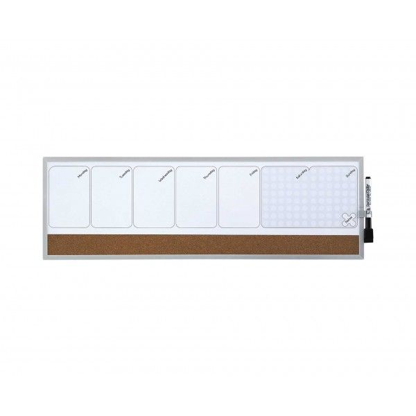 Quartet Magnetic Weekly Organiser 585x190mm - Notice Boards - Conference Supplies & Presentation Equipment - Office Supplies