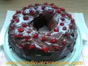 mikrogolf koek met ganache