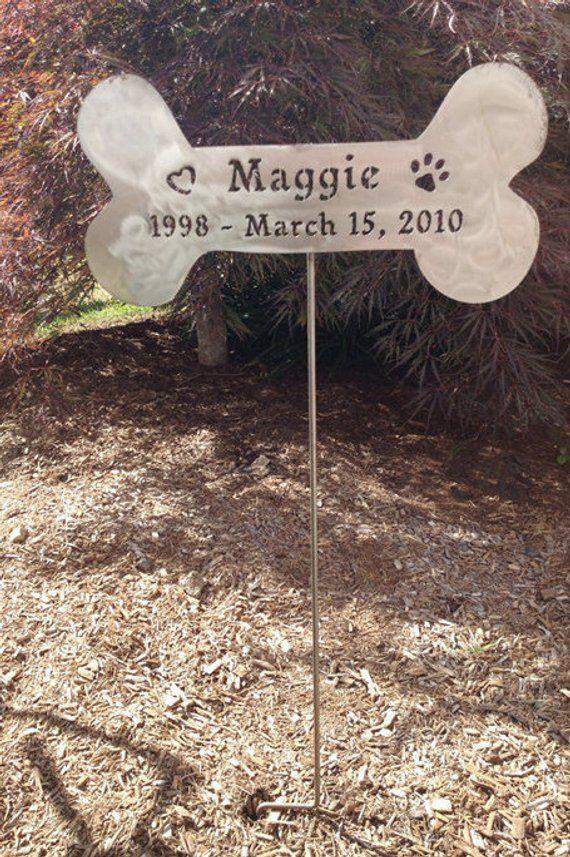 Dog Bone Welcome Sign Wall Hanging Dog Memorial Pet