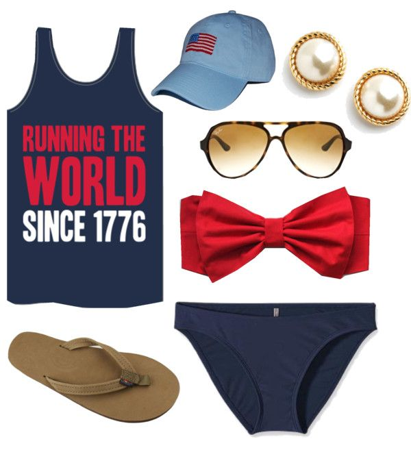 """""""4th of July"""" on the beach --- if you have a Polyvore account I highly recommend following her! Cutest stuff."""