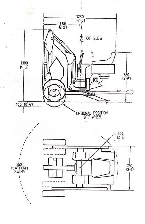 Powerfab mini excavator PLANS for towable digger backhoe
