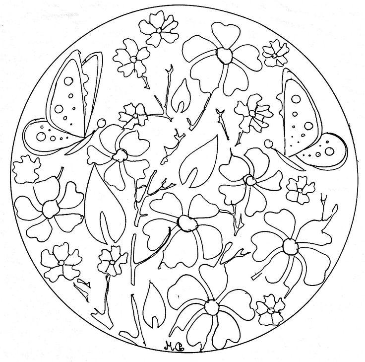 11 Prodigue Coloriage Mandala Fleur Et Papillon Photos