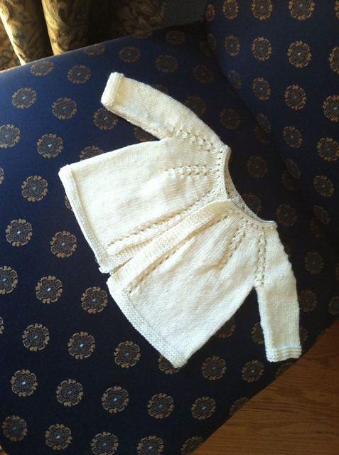 Ravelry: GJohnson39's Lace Yoke Top Down Baby Cardigan