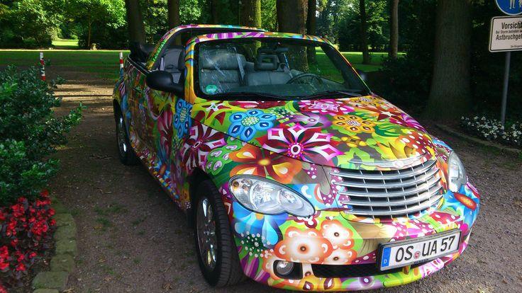 Chrysler PT Cruiser Cabrio mit Gasanlage Flower Power, LOL