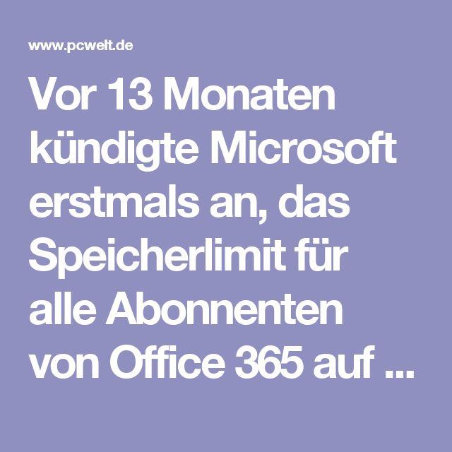 Vor 13 Monaten kündigte Microsoft erstmals an, das Speicherlimit für alle Abonnenten von Office 365 auf einen Terabyte zu begrenzen. Nun folgt die offizielle Ankündigung als Pop-Up innerhalb der Oberfläche von OneDrive. Dort weist Microsoft darauf hin, dass für alle Office 365-Abonnenten ab dem 1. März 2017 keine Überschreitungen des OneDrive-Speichers über ein 1 TB mehr geduldet werden.   Noch im Oktober 2014 boten die Redmonder allen Nutzern des Dienstes ein unbegrenztes Speicherlimit in…