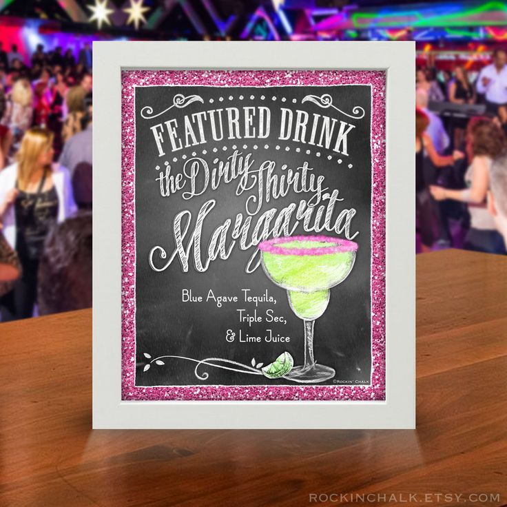 Custom Made Signature Drink Signs Made to Order for your ...