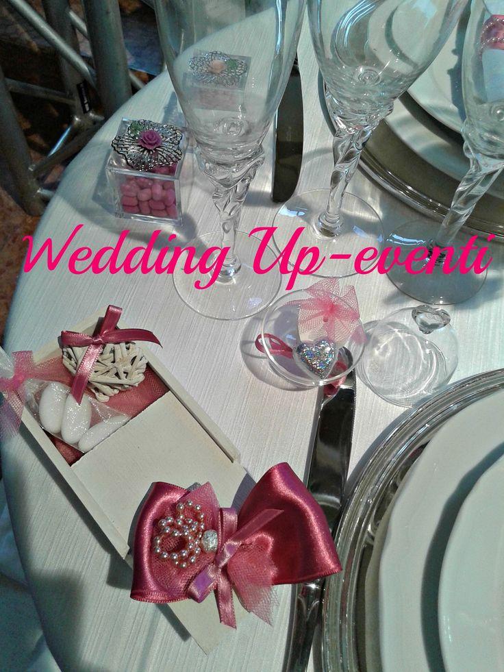 La tavola, dettagli,segnaposto e bomboniere..