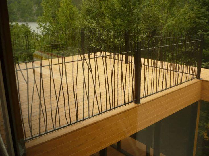 Barandilla de exterior / de hierro forjado / con barrotes / para balcón - BRANCHES 6820-1 by Martin Battig - BATTIG DESIGN