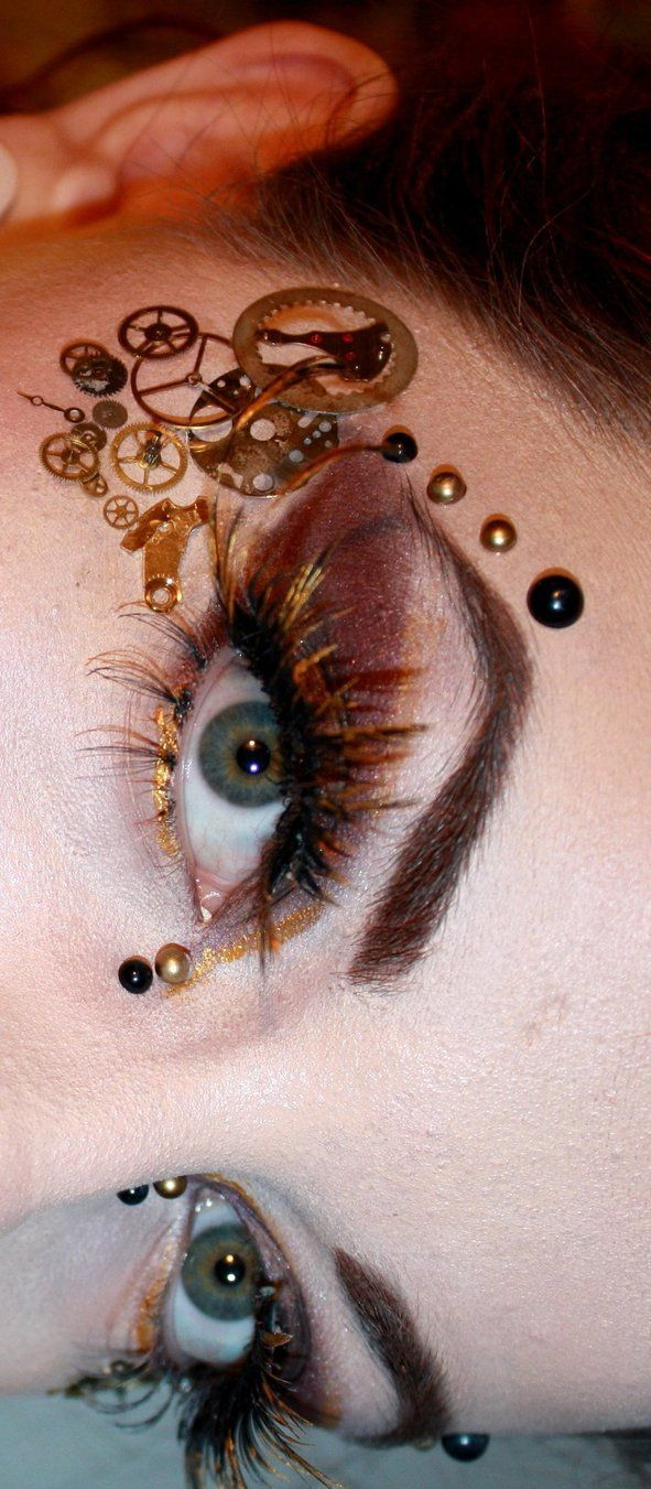this steam punk eye design is really effective and fashionable which is the style I'm going for.