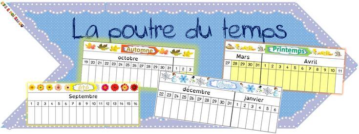 Calendrier linéaire-Poutre du temps d'inspiration Montessori - dys é moi Zazou et Madel
