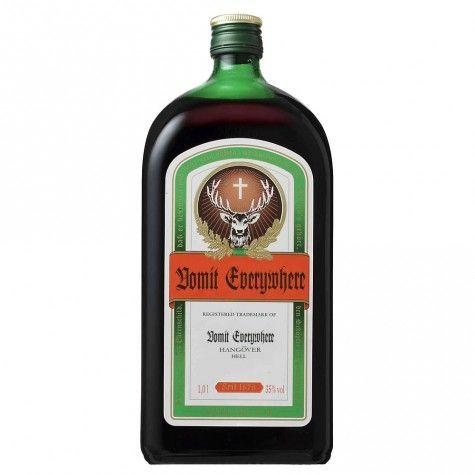 ¿Qué pasaría si las botellas de alcohol fueran nombradas por sus verdaderos efectos? (FOTOS)