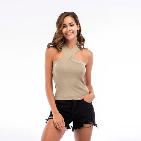 c596ef8b24dba 2018 women's European and American summer straps tube top sleeveless shirt  women's vest wear