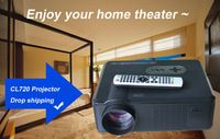 on sale!HD led projector   with 3000lumens,summer best gift,take it home,and take a home threater home.