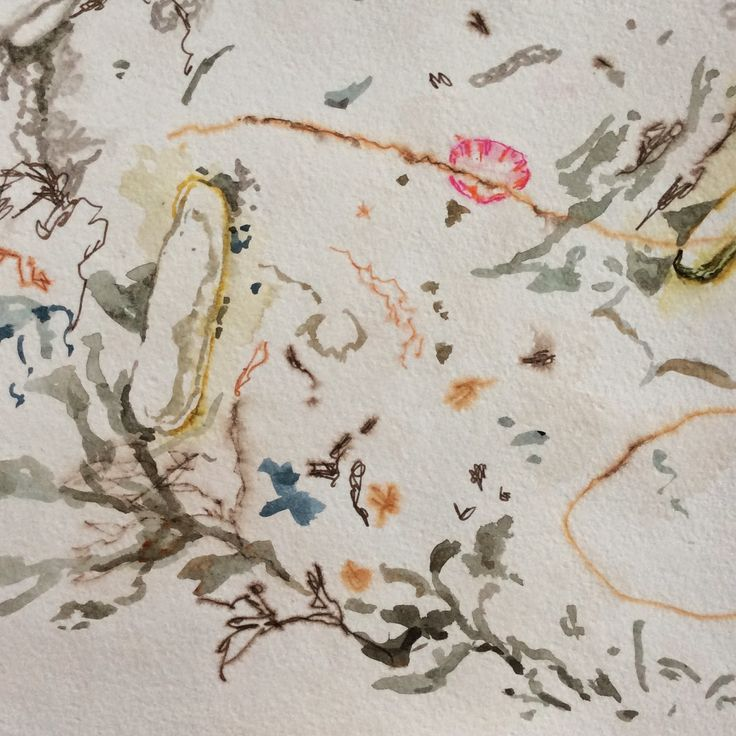 Fabric of the Coast: Depicting the coast in Watercolour - Pattern. (BevBush, 2015)