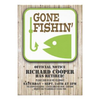 gone fishing themed retirement invitations | Funny Retirement Invitations, 131 Funny Retirement Announcements ...
