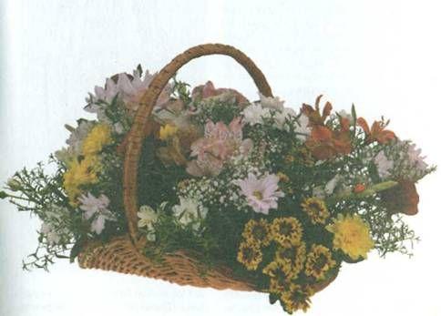 Подставка для цветов плетенная из лозы