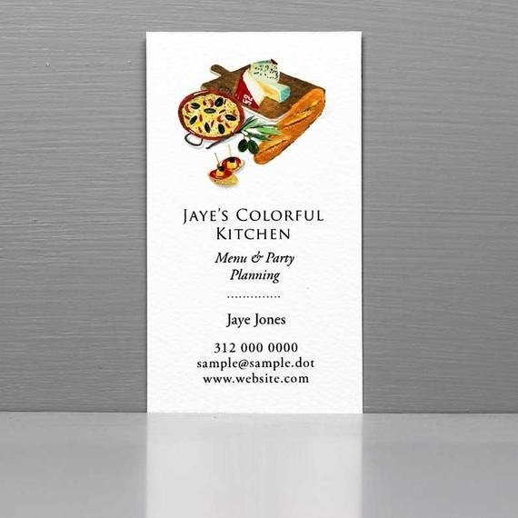 Business Card For Caterer Business Card For Chef Catering Business Cards Small Envelopes Catering