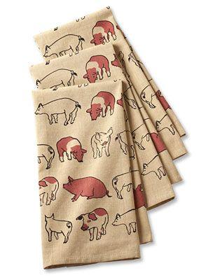 Look Gram, Around the Barnyard Dish Towels-pigs, hint, hint...