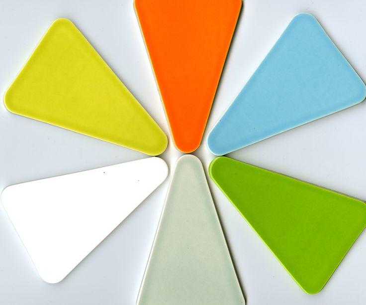Trend Kiln Ceramic Wedge Tile Color Wheatgrass Green
