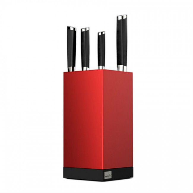 IconChef A-maze Knife Block Red