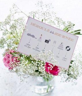 Mariage : le printable gratuit du programme de la journ�e
