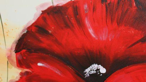 Quadri floreali dipinti su tela 70x140 cm