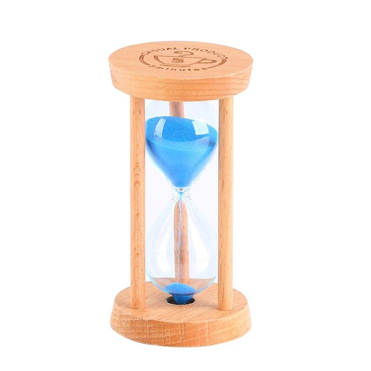 Optimal Shop 5 Minutes Wooden Frame Sandglass Sand Glass Hourglass for Home Kitchen Timer Clock Decor Christmas Birthday Gift (Blue Sand)
