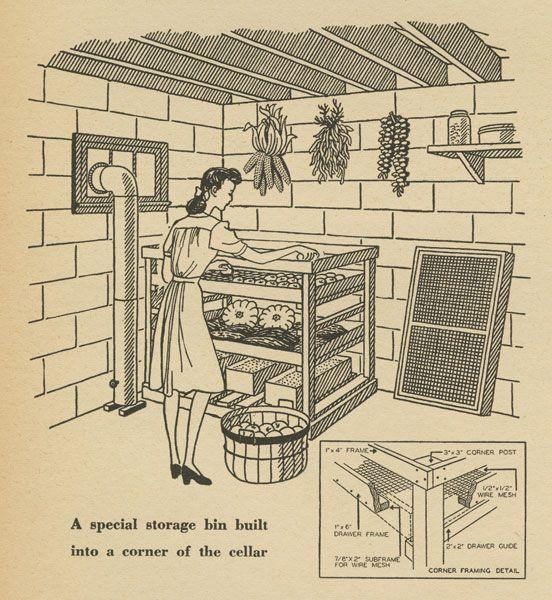 root cellar storage rack instructions