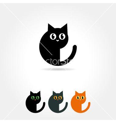 Cat icon vector
