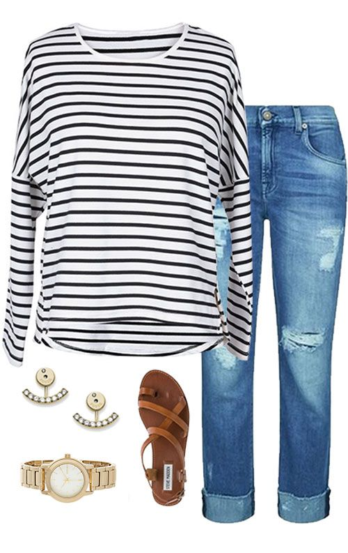 This striped top is so classic and delicate. Hot sale, $18.99 now! Paired it with jeans, shorts, skirts or anything you like. It is perfect for whatever and wear-everywhere. Go check it and get surprised at Cupshe.com !