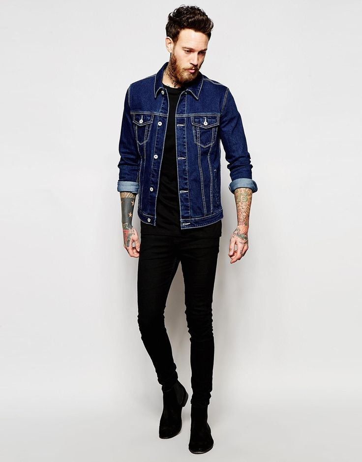Image 4 of ASOS Denim Jacket in Skinny Fit