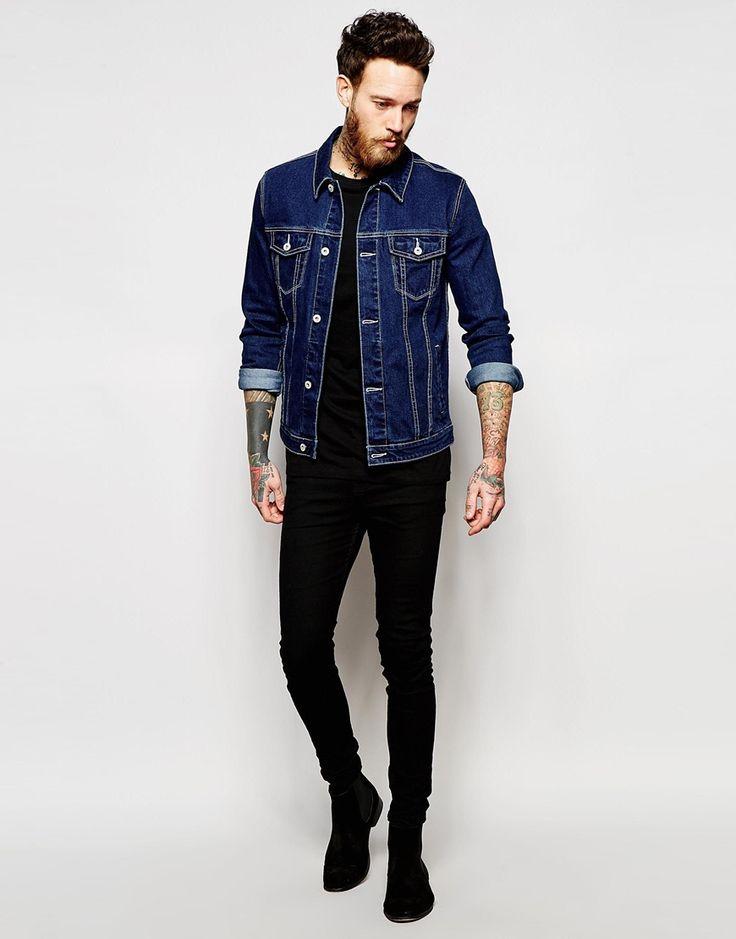 Image 4 of ASOS Denim Jacket in Skinny Fit | Menu0026#39;Style | Pinterest | Denim jackets Skinny fit ...