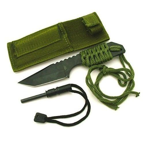 Quot stainless steel survival knife silodrome cats