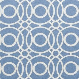 Blue geometric print fabric - Eclipse Delft by Charles Parsons Interiors #blue #fabric #drapery #curtain #print #geometric #charlesparsonsinteriors