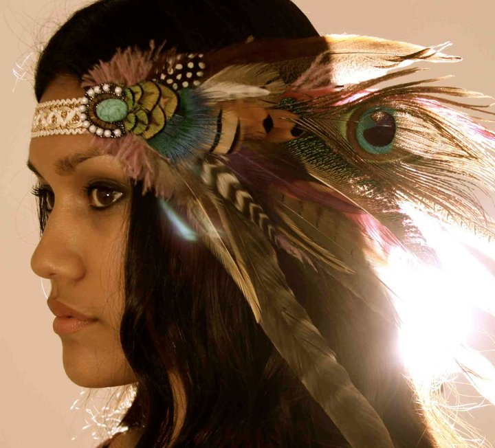 Elmstone Feather headdress - summer vibes