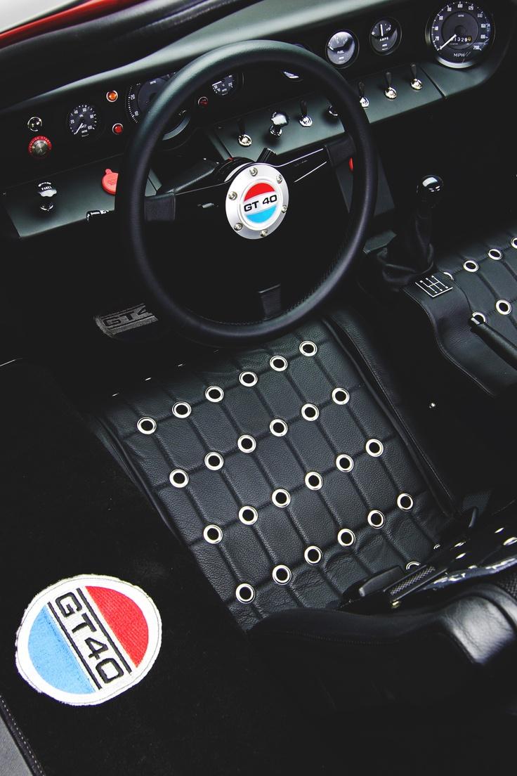 Vintage Ford GT40 interior
